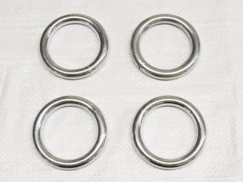X4 6MM x 50MM Zinc Plated Round Rings - O Welded Steel